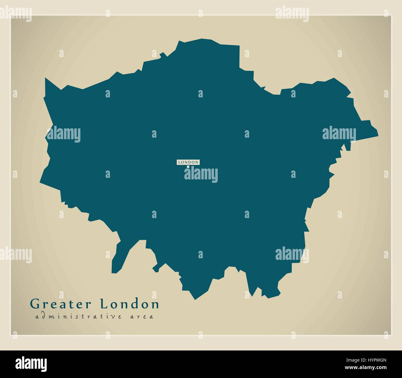 Modern Map Greater London administrative area