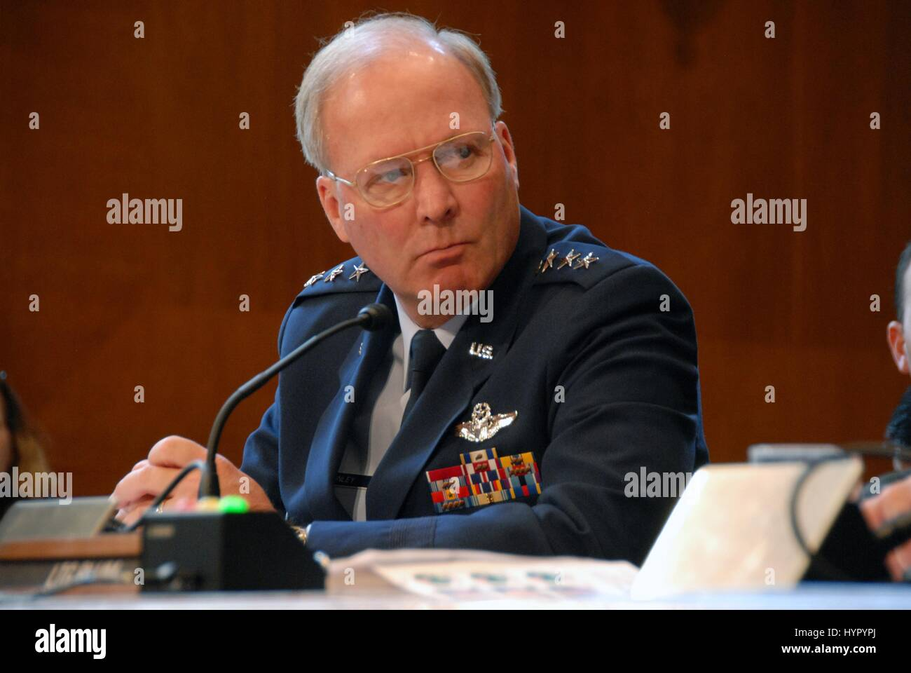 U.S. Air National Guard Director Craig McKinley testifies before the Senate Appropriations Subcommittee on Defense - Stock Image