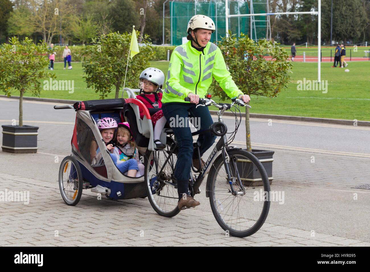 Baby In Bike Trailer Need A Helmet