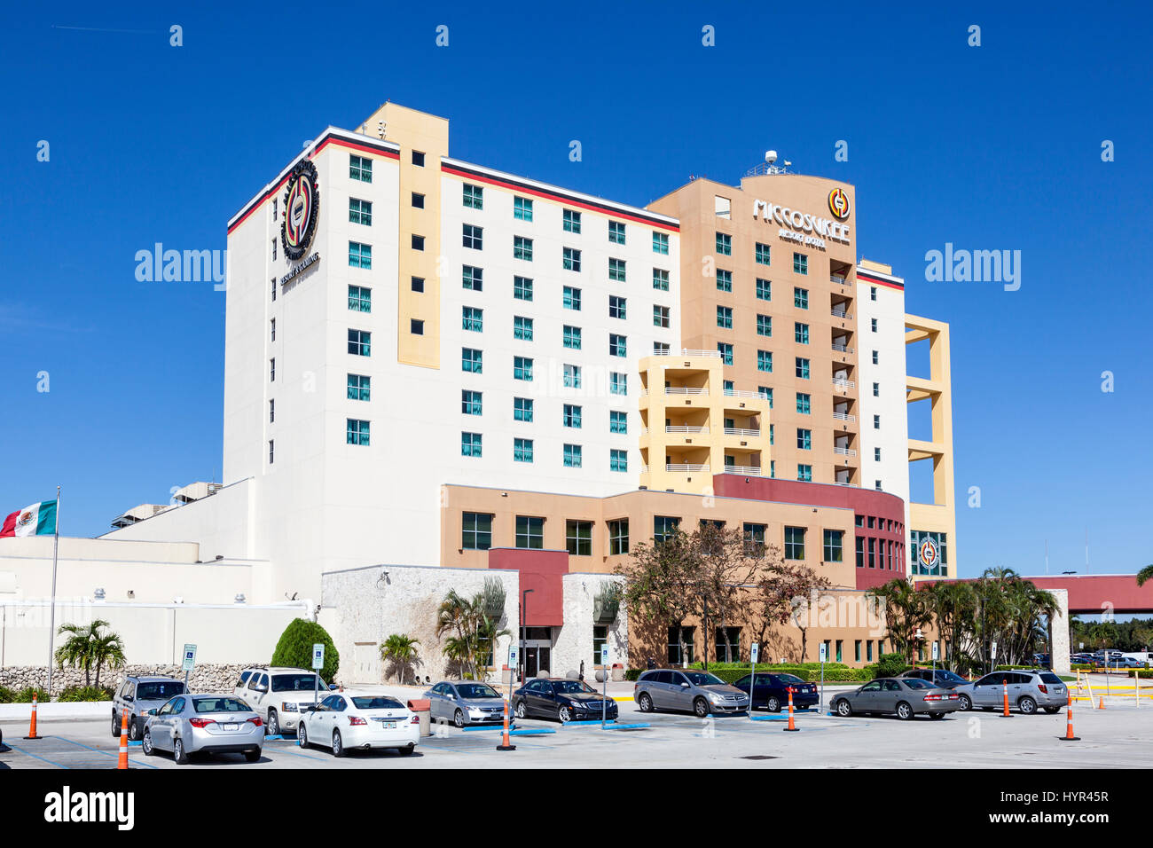Miami, Fl, USA - March 15, 2017: Miccosukee Indian Casino and Resort Hotel located at the Tamiami Trail west of - Stock Image