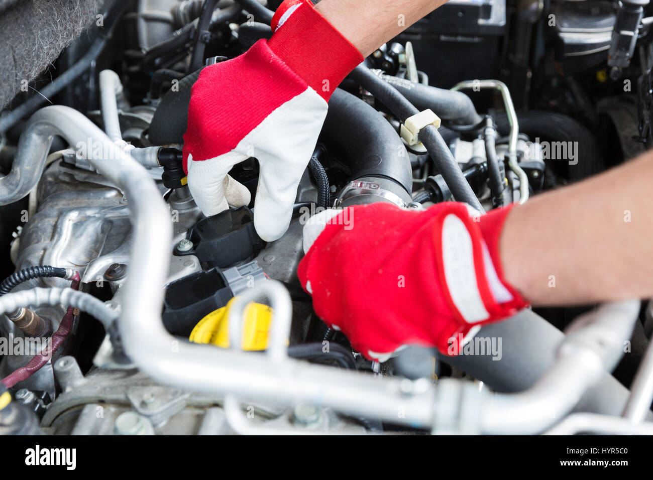 auto mechanic checking car engine spark plug wires Stock Photo ... on spark plugs on, spark plugs for dodge hemi, spark screen, short circuit wires, spark plugs 2003 dakota, spark plugs awsf 32pp, spark ignition, spark plugs for toyota corolla, spark plugs replacement, ignition wires, coil wires, spark pug, spark plugs location diagram, spark indicator, spark plugs 2006 pacifica, wire separators for 8mm wires, gas grill ignitor wires, spark up meaning, plugs and wires, spark plugs brands,