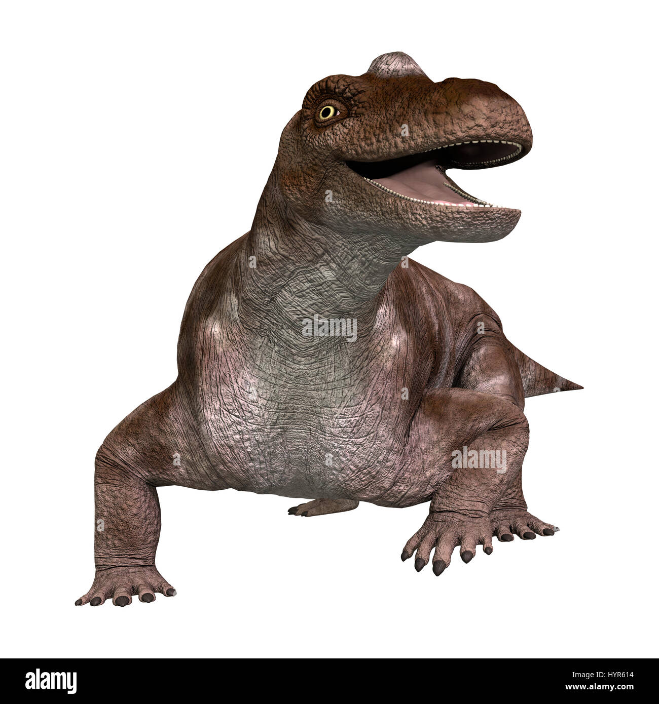 3D rendering of a dinosaur keratocephalus isolated on white background Stock Photo