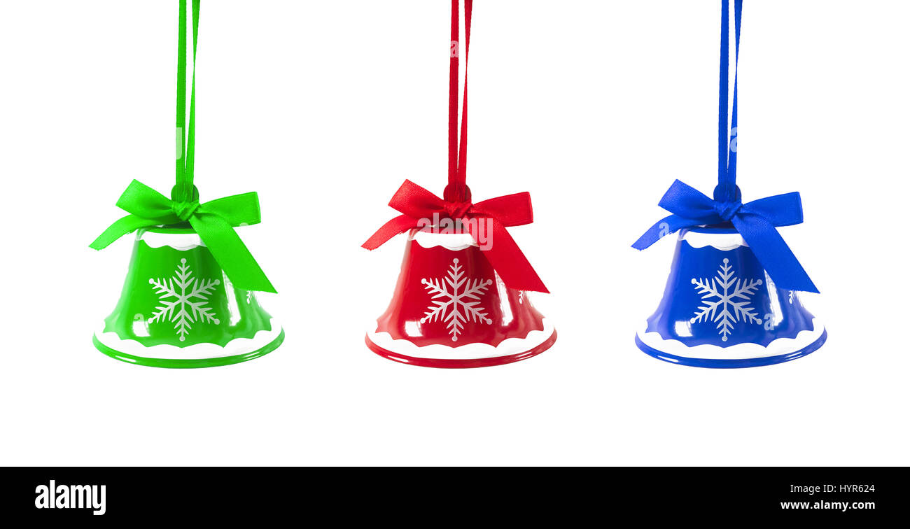 christmas jingle bells on a white background new year stock image