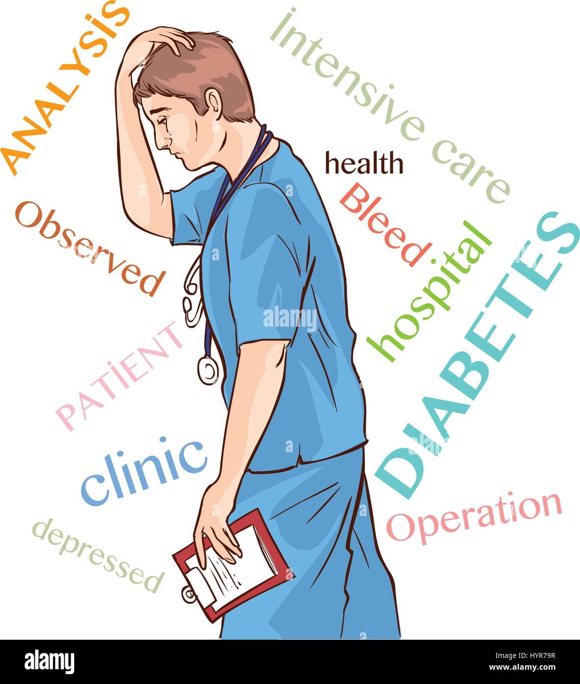 Image result for depressed doctor cartoon