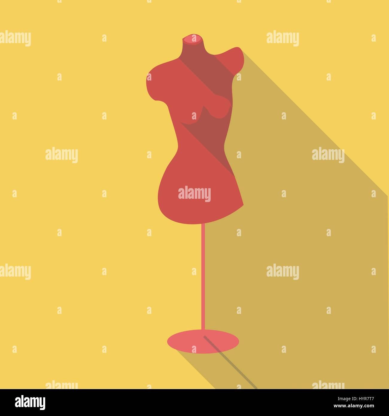 flat long shadow vector Empty mannequin torso template Stock Vector ...