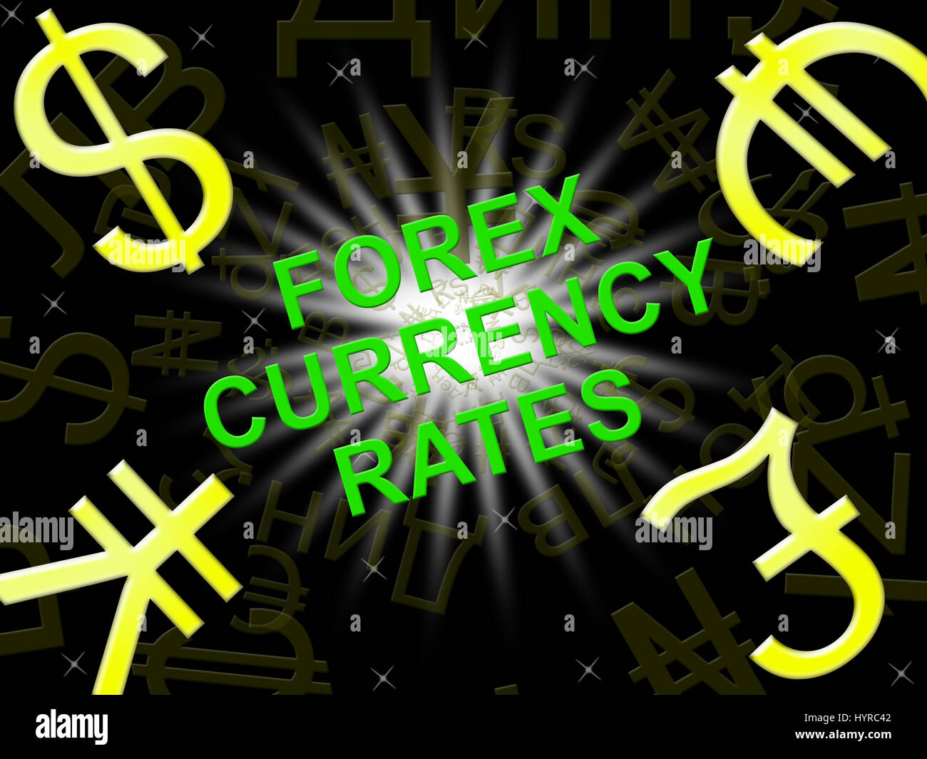 Currency Rates Indicating Foreign Exchange Symbols 3d Illustration