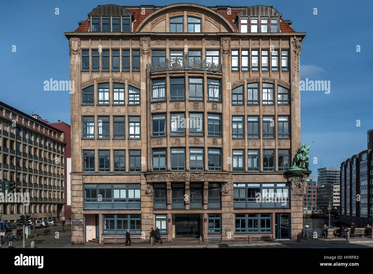House of seafaring, Hamburg, Germany - Stock Image