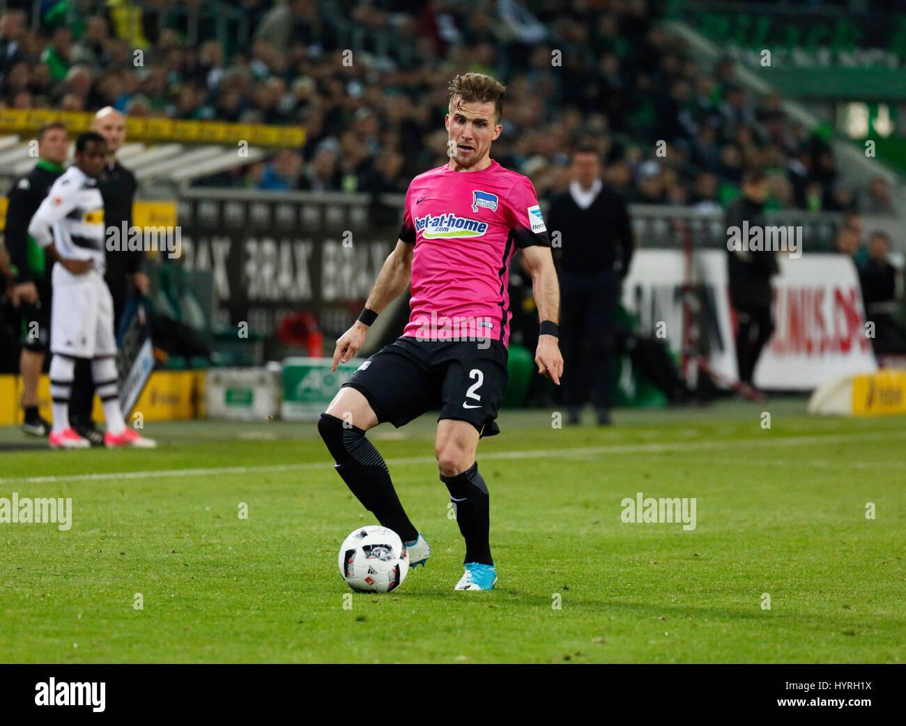sports, football, Bundesliga, 2016/2017, Borussia Moenchengladbach vs Hertha BSC Berlin 1:0, Stadium Borussia Park, - Stock Image
