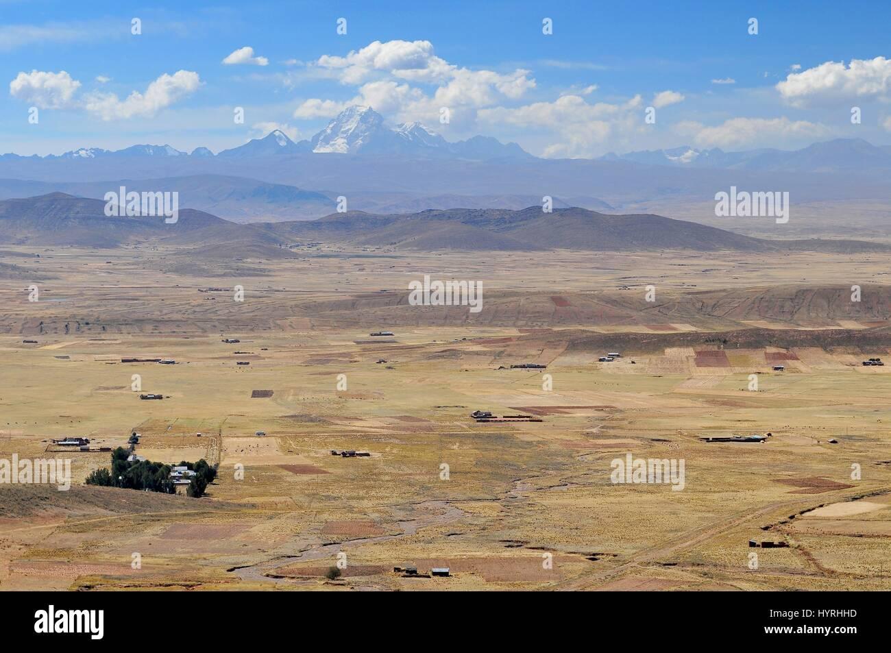 Bolivia, Cordillera Real from the Road to La Paz Stock Photo