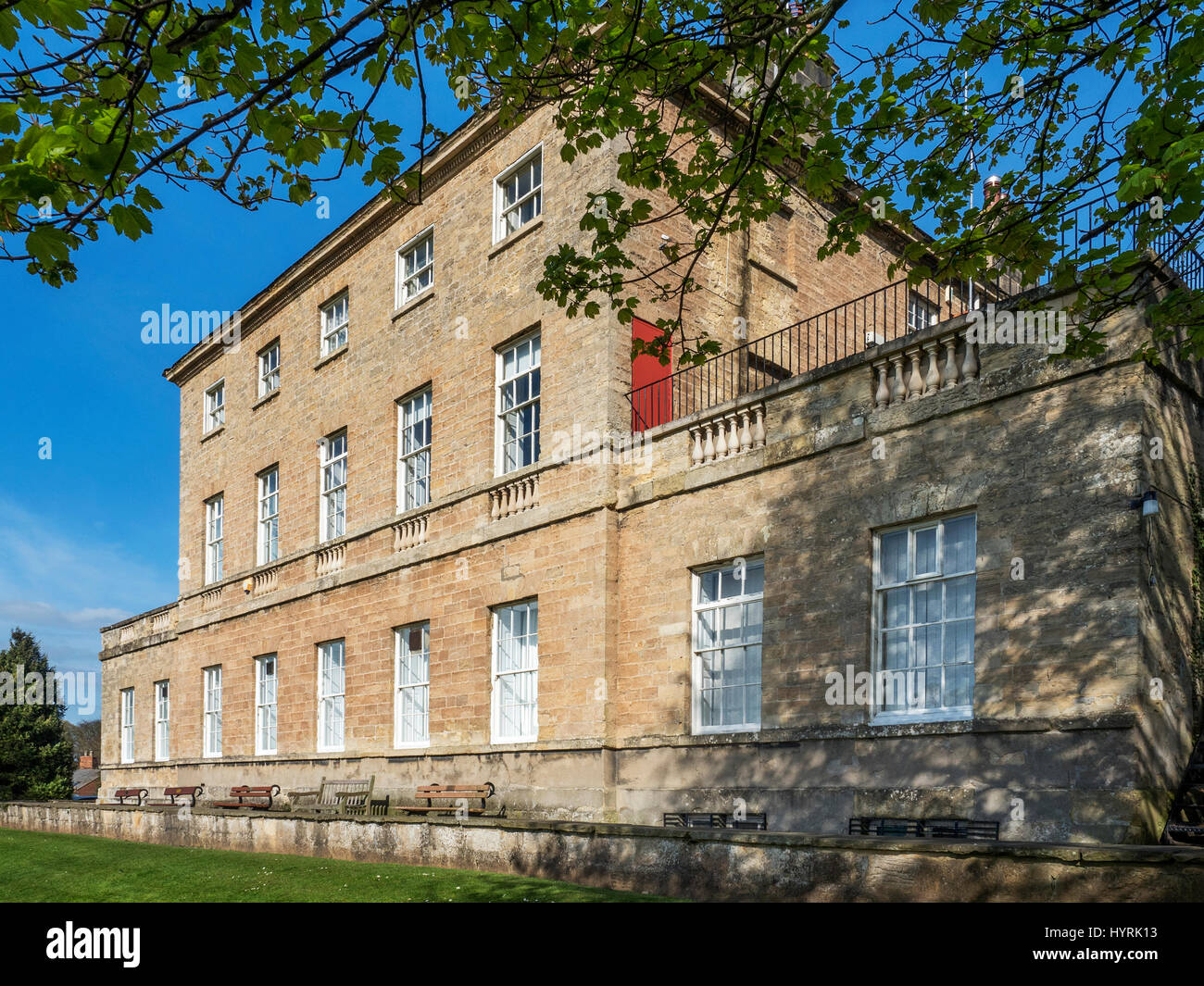 Knaresborough House in Spring Knaresborough North Yorkshire England - Stock Image