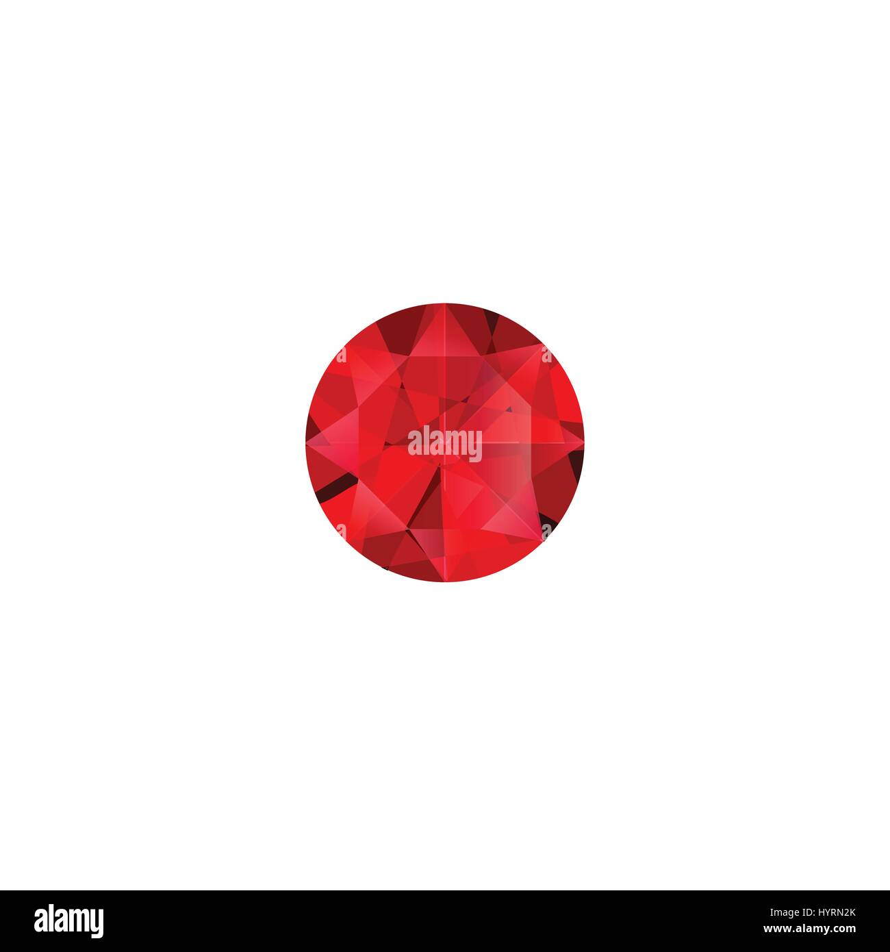 Ruby stone luxury jewel vector isolated illustration - Stock Vector