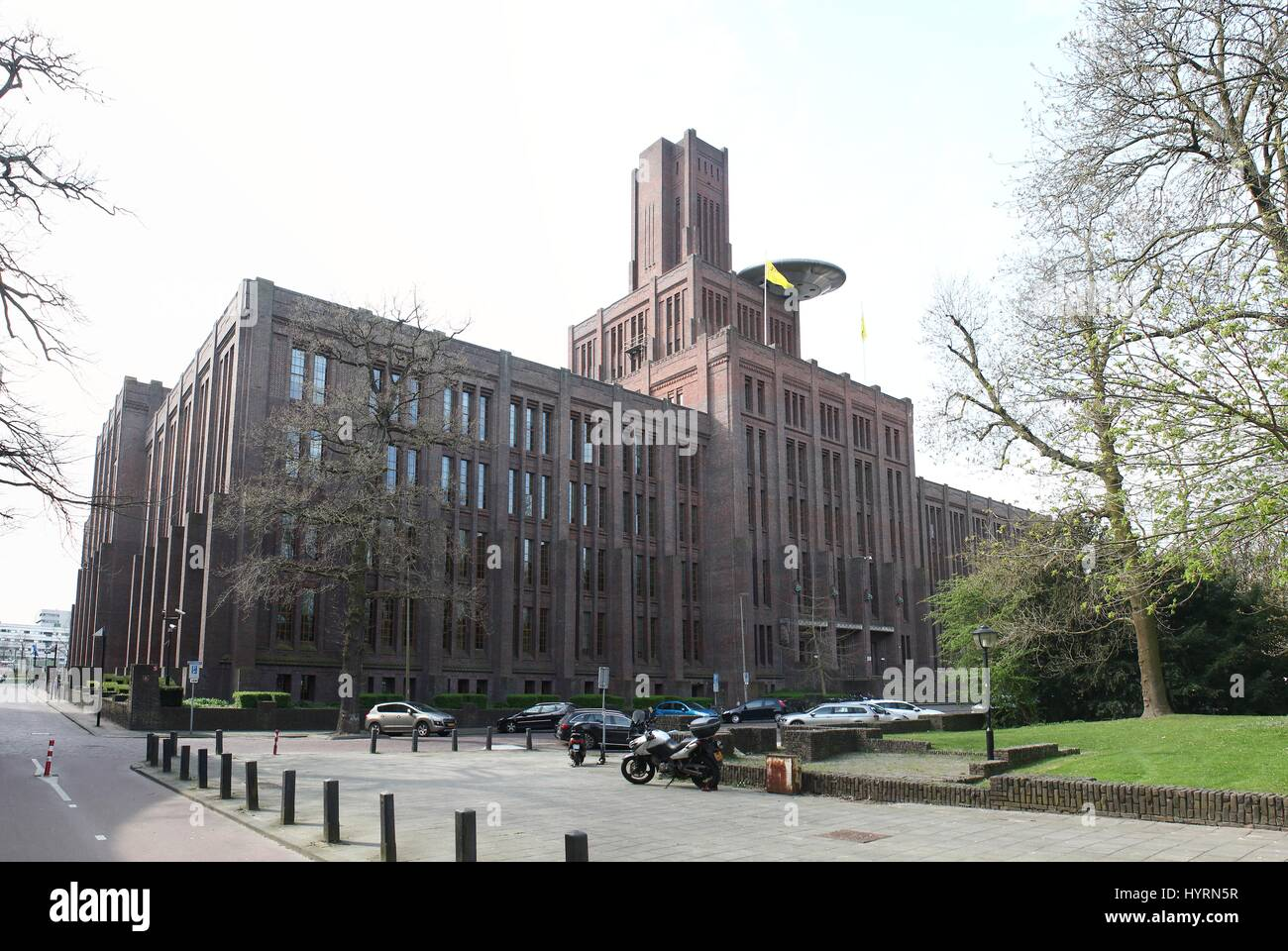 De Inktpot (Inkwell), former headquarters of Dutch Railways (Nederlandse Spoorwegen), nowadays ProRail infrastructral - Stock Image