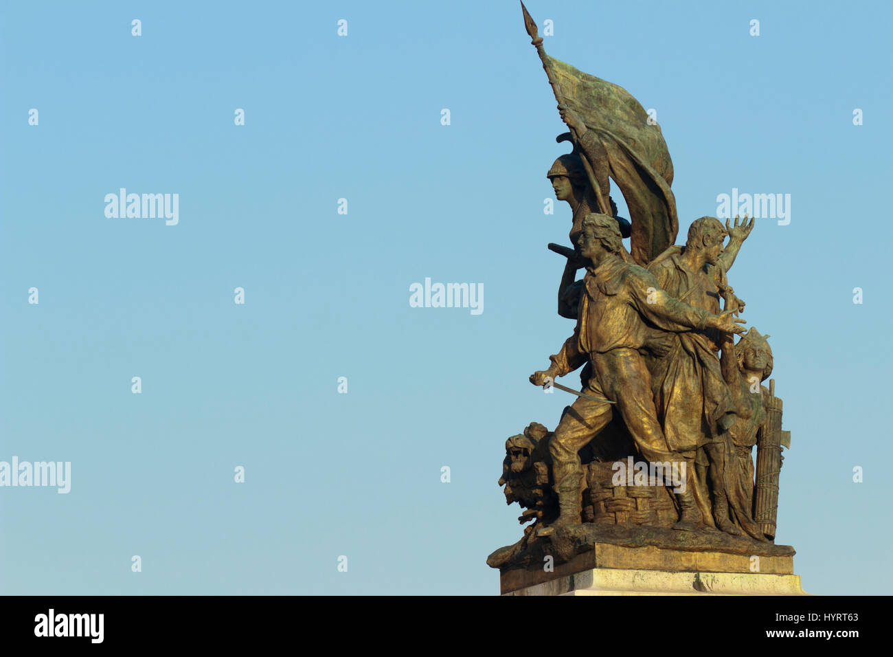 statue of liberty: part of the monument of Vittorio - Stock Image