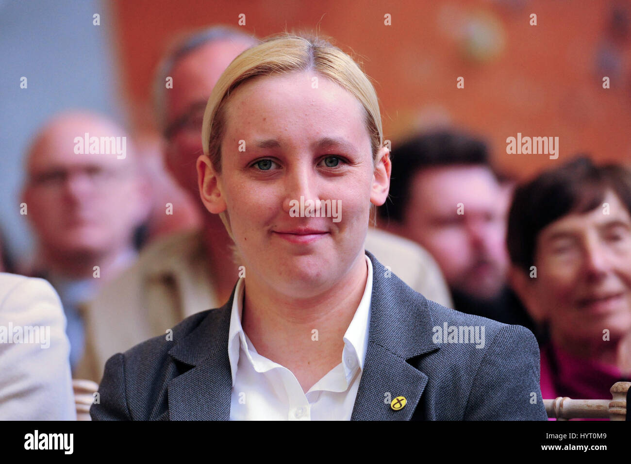 File image: Mhairi Black, the 20-year-old student who has unseated shadow foreign secretary Douglas Alexander and - Stock Image