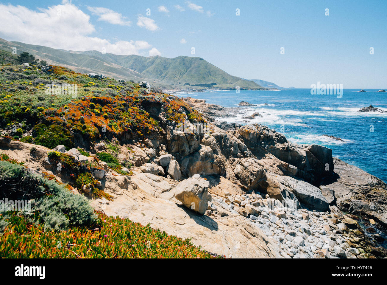 Big Sur California Coastline - Stock Image