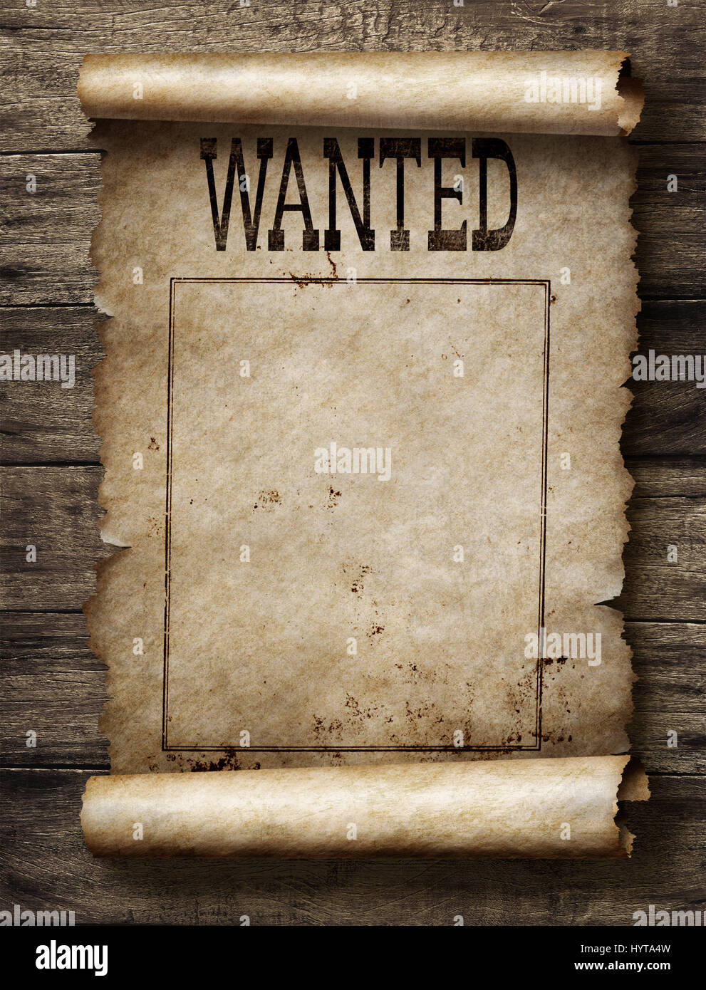 Wanted for reward poster - Stock Image