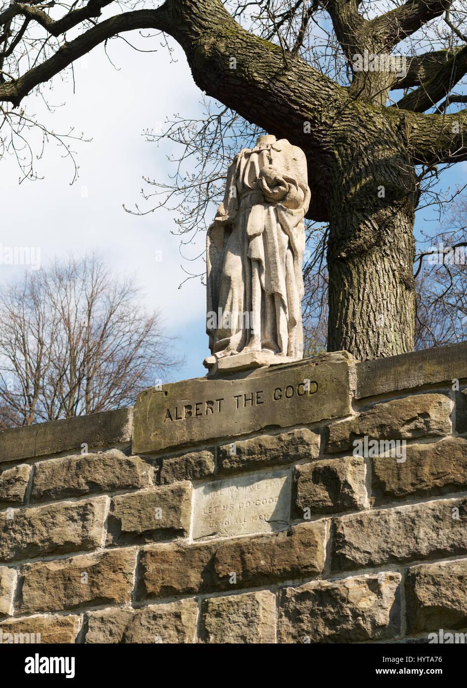 Statue Of Albert The Good In Wharton Park Durham City England Uk