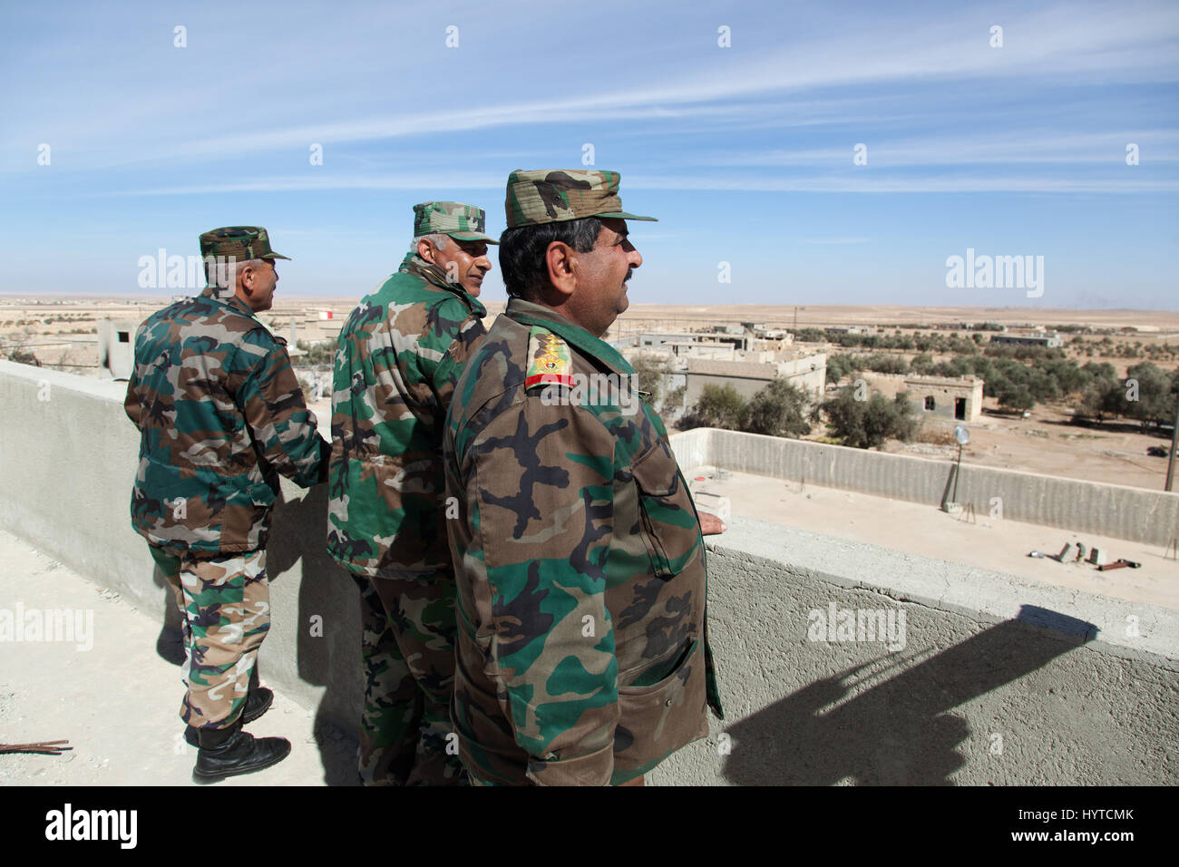 Syrian army generals on the frontline - Stock Image