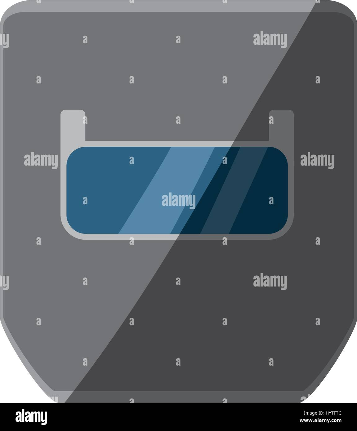 Welding Mask Isolated Icon Vector Illustration Graphic Design Stock Helmet Diagram