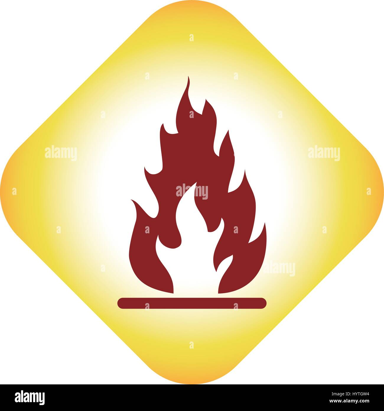 Flammable advert sign - Stock Image