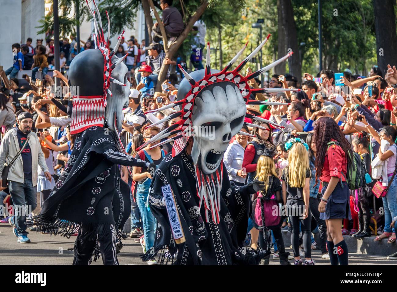 Day Of The Dead Dia De Los Muertos Parade In Mexico City
