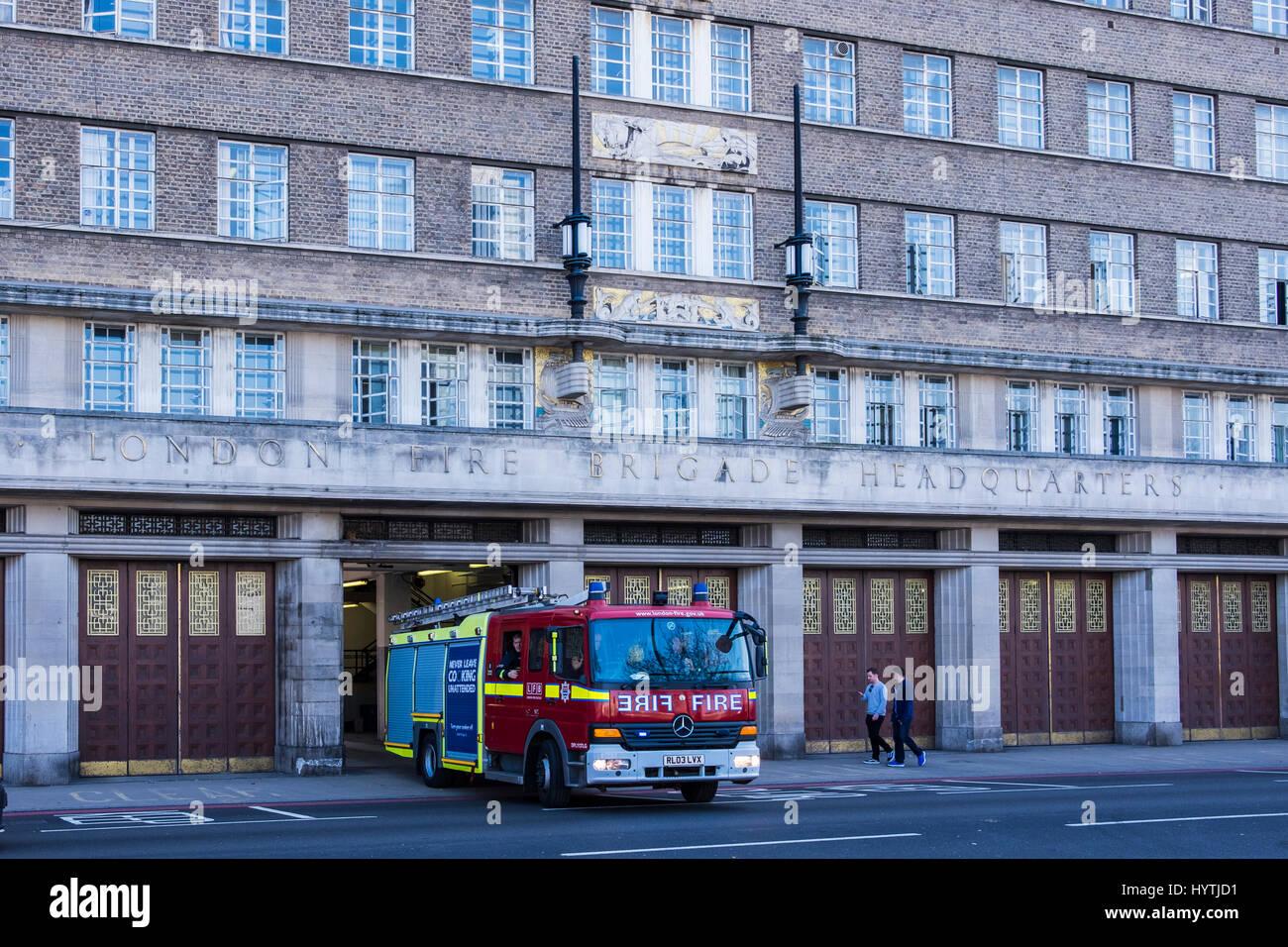 London Fire Brigade Headquarters, Lambeth, London, England, U.K. - Stock Image