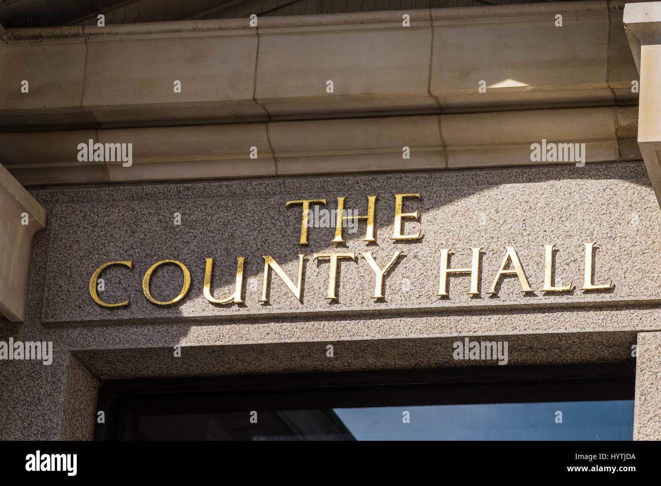 County Hall is a building in London that was the headquarters of London County Council and later the Greater London - Stock Image