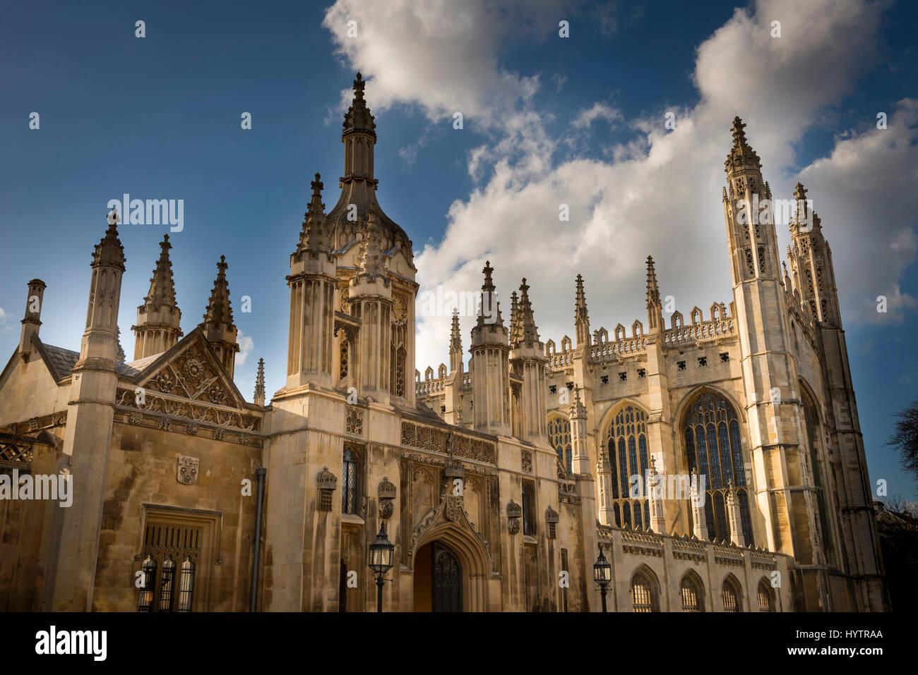 The entrance to Kings College, Cambridge University, England, UK - Stock Image