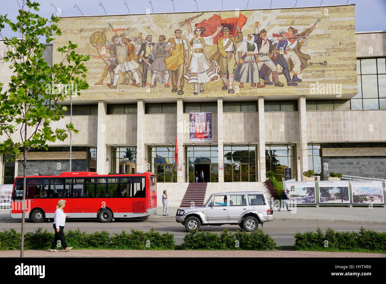 National History Museum in Tirana, Albania. - Stock Image