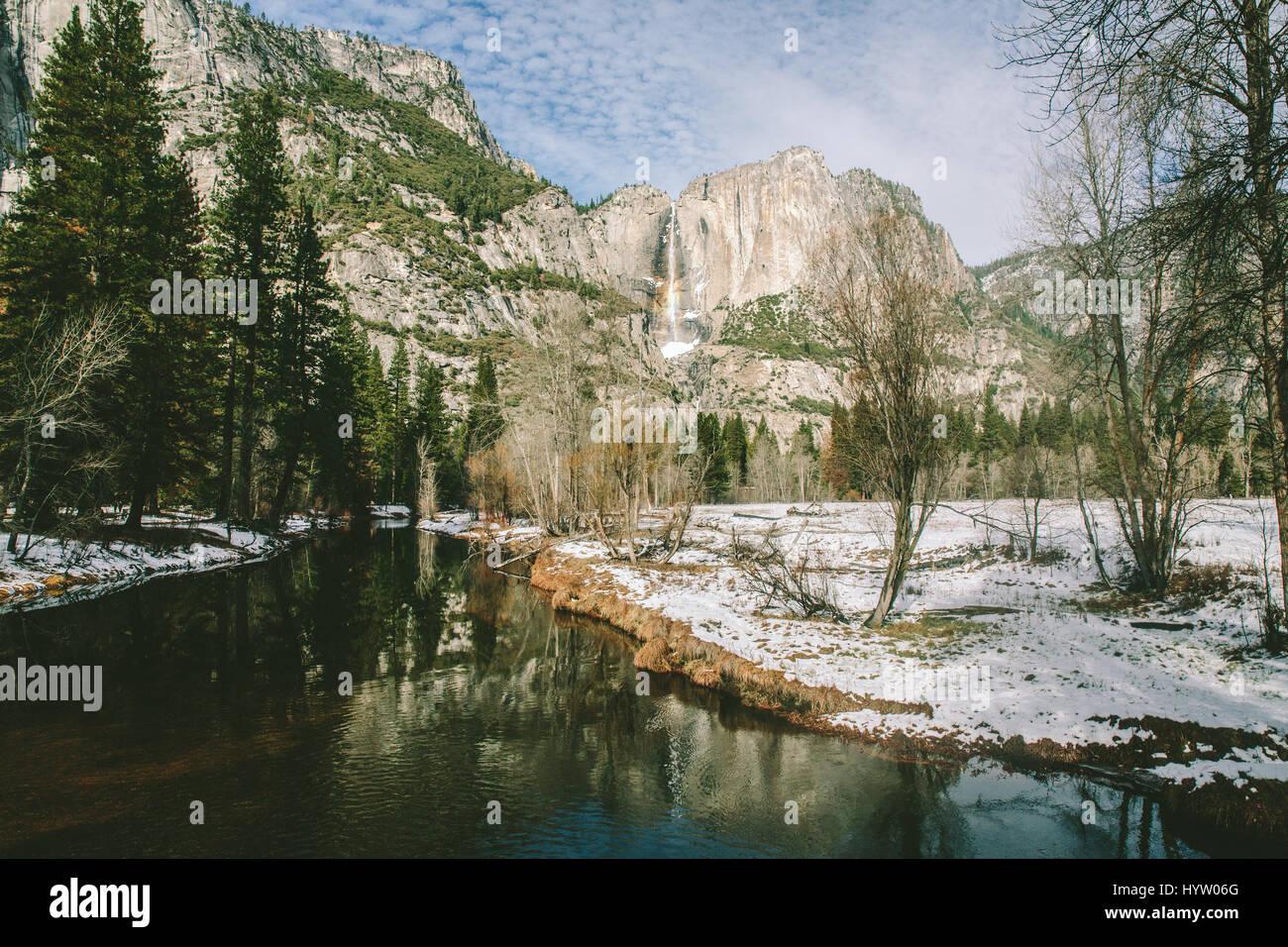 Yosemite Falls at Yosemite, California, USA - Stock Image