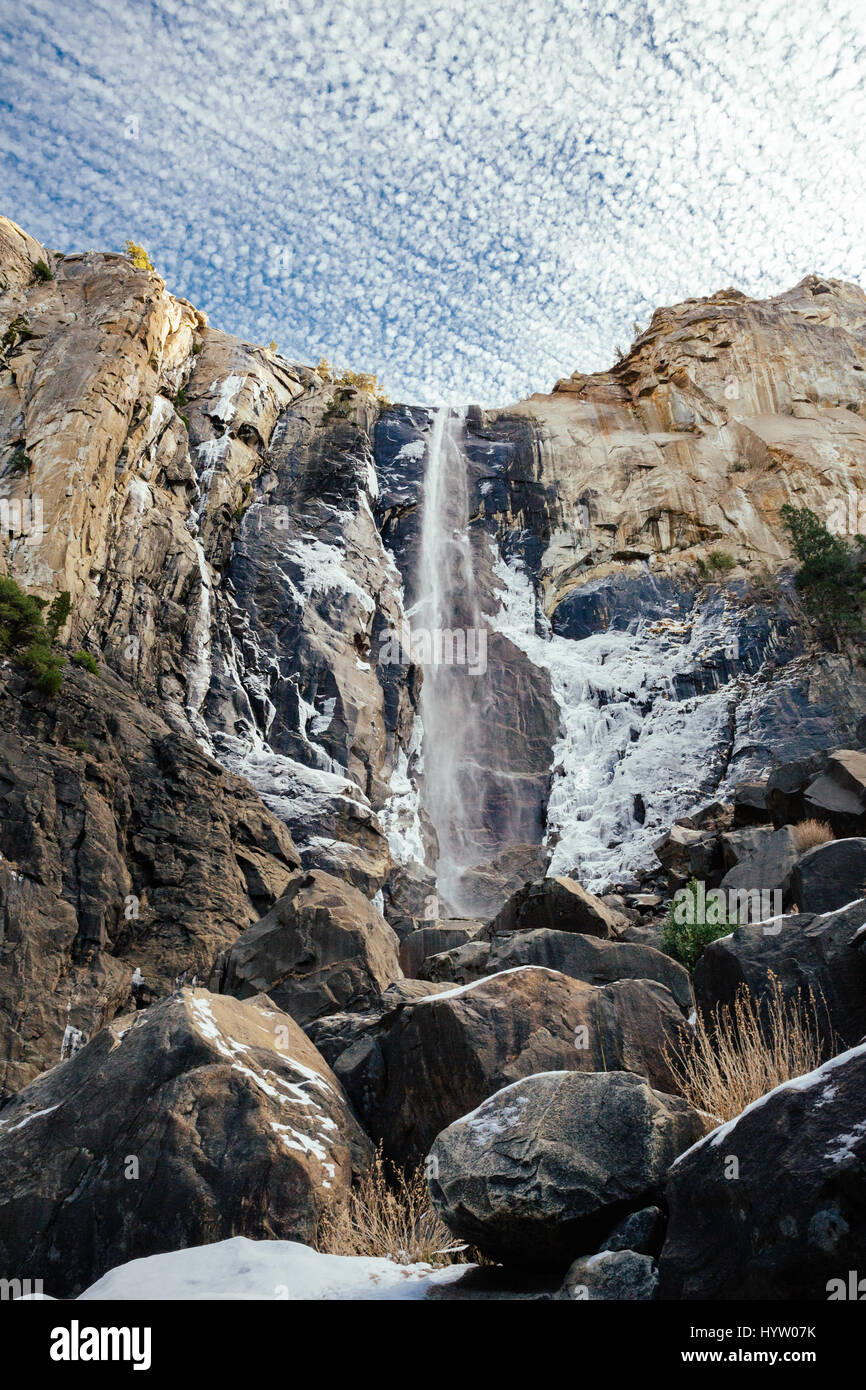 Bridalveil Fall at Yosemite, California, USA - Stock Image