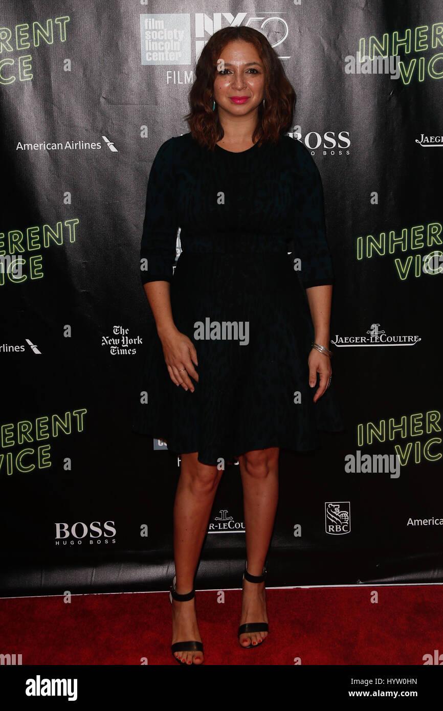 NEW YORK-OCT 4: Maya Rudolph attends the 'Inherent Vice' Centerpiece Gala Presentation & World Premiere - Stock Image