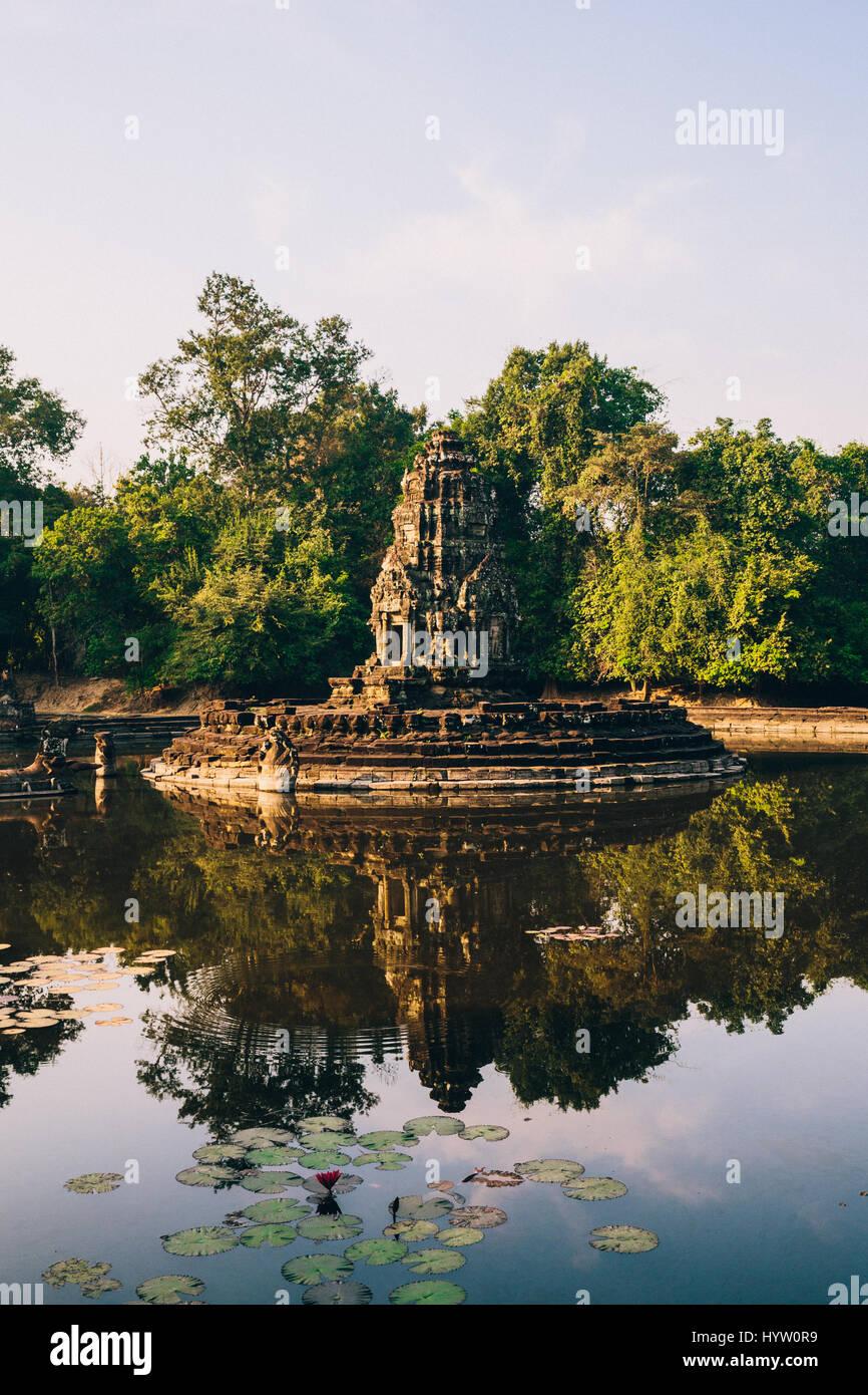 Neak Pean - Ancient Ruins of Angkor Wat, Siem Reap, Cambodia - Stock Image