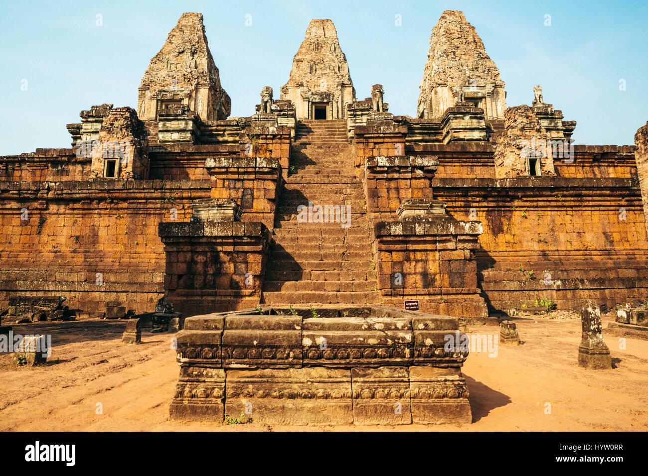 Ta Keo - Ancient Ruins of Angkor Wat, Siem Reap, Cambodia - Stock Image