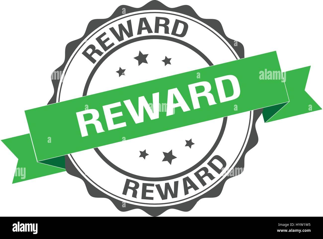 Reward stamp illustration - Stock Image