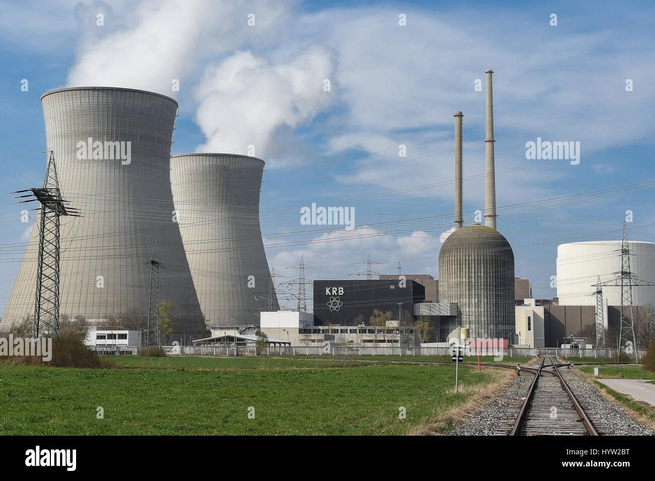 Atomkraftwerk,Grundremmingen,Schwaben,Bayern,AKW,Atom,atomic power plant, - Stock Image