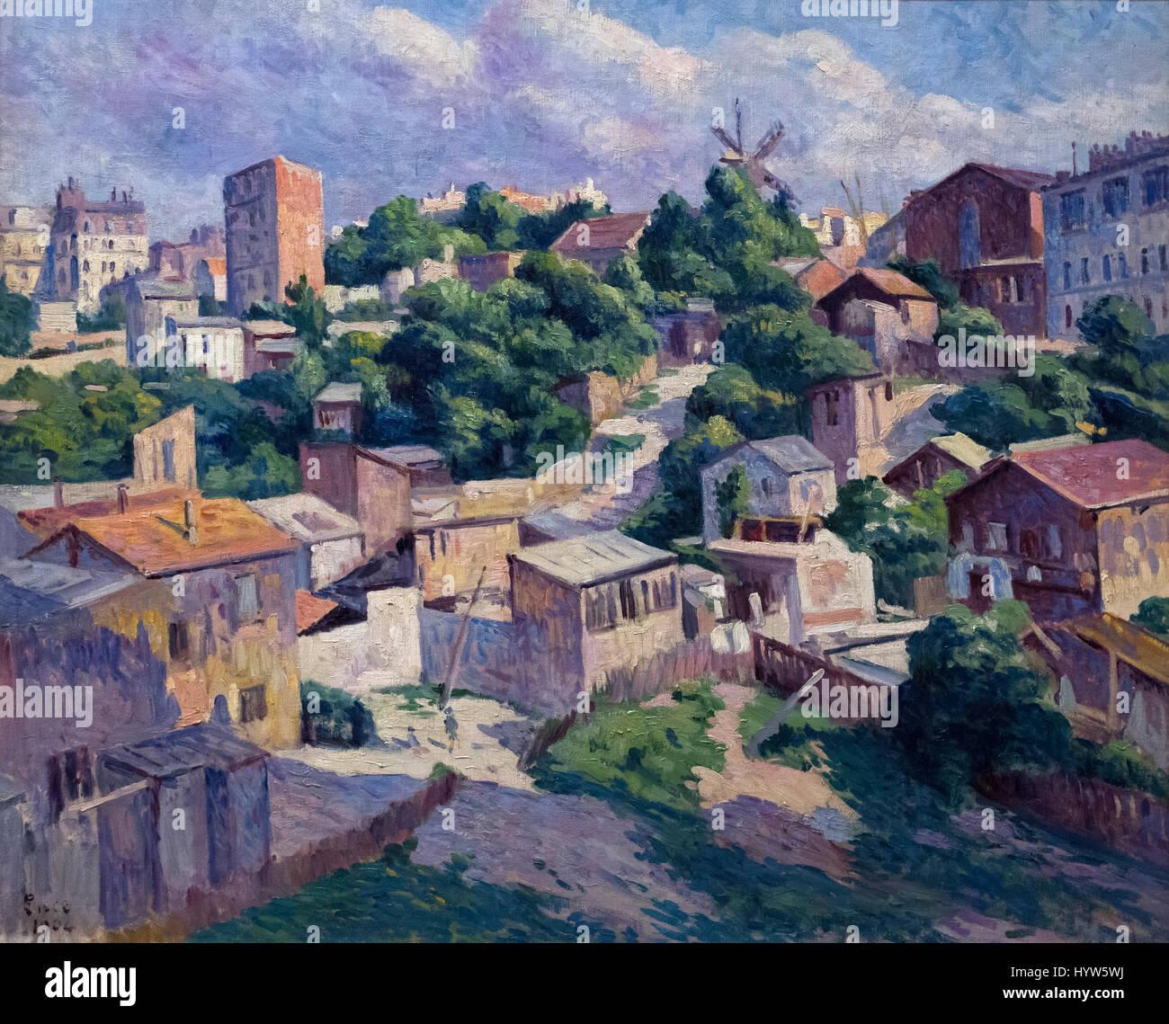 Maximilien Luce (1858-1941) Thicket, Montmartre, 1904. Stock Photo