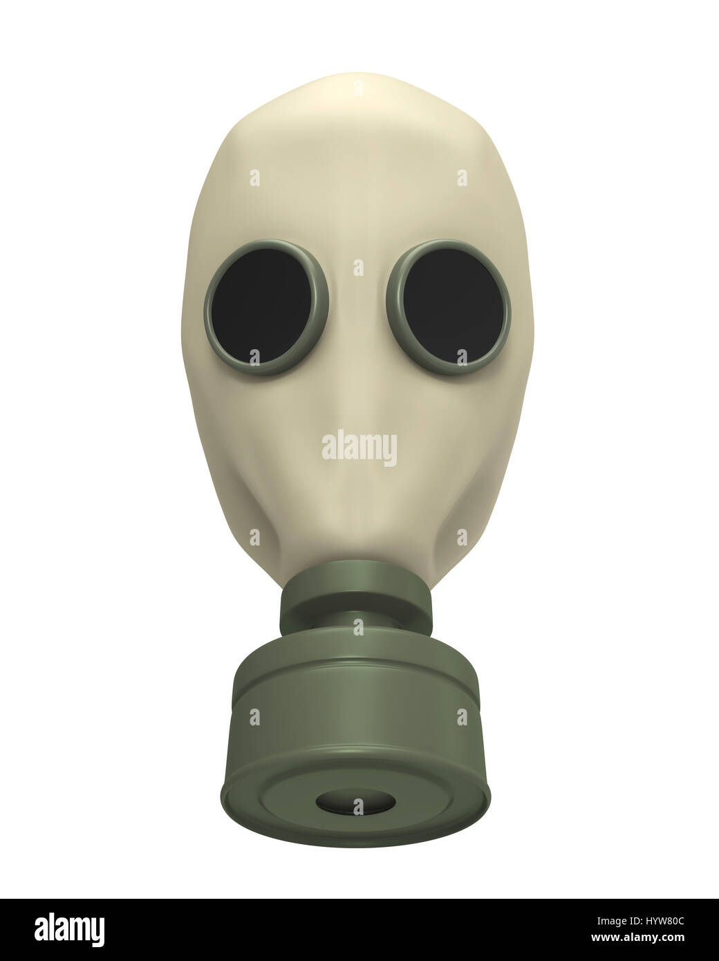 Gas Mask Isolated - Stock Image
