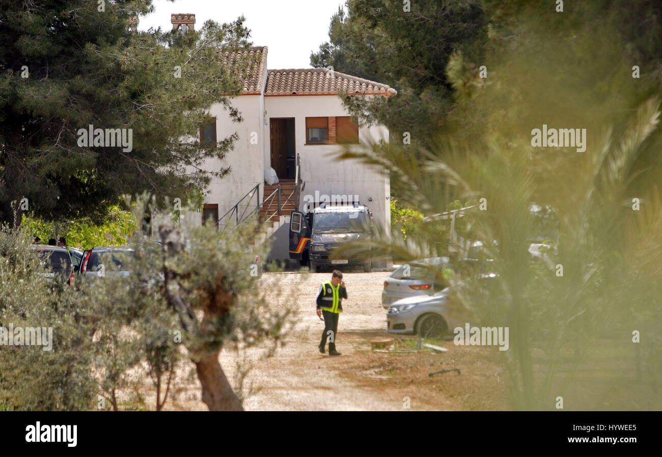 General view of the house where the police arrested an Egyptian man accused of being linked to Islamic State, in - Stock Image