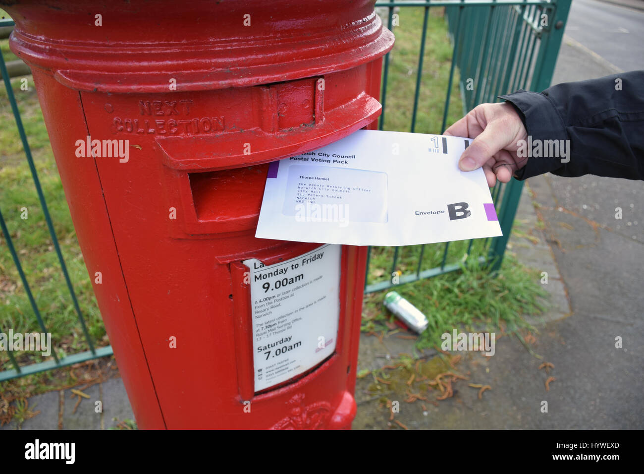 Postal vote for local elections on 4 May, Norwich UK April 2017. MR - Stock Image