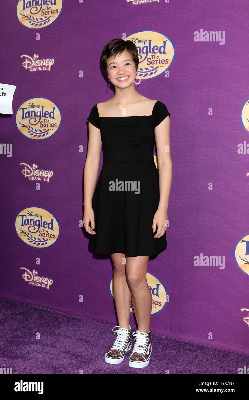 Beverly Hills, CA, USA. 4th Mar, 2017. LOS ANGELES - MAR 4: Peyton Elizabeth Lee at the ''Tangled Before - Stock Image