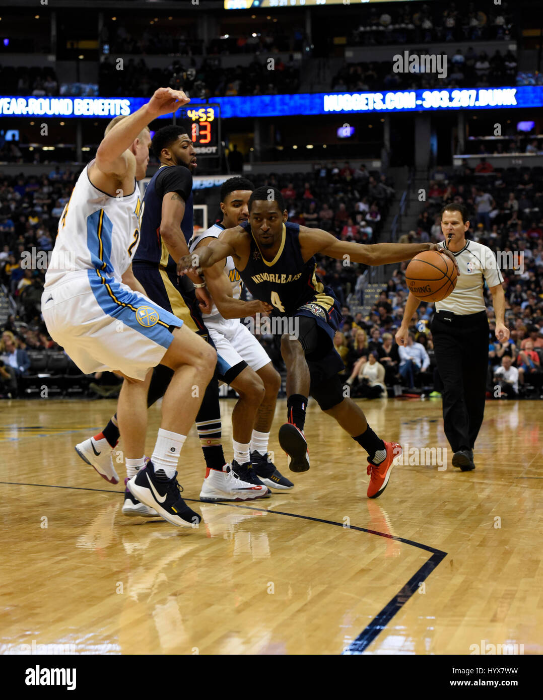 Denver Colorado Usa 08th Apr 2017 New Orleans Pelicans