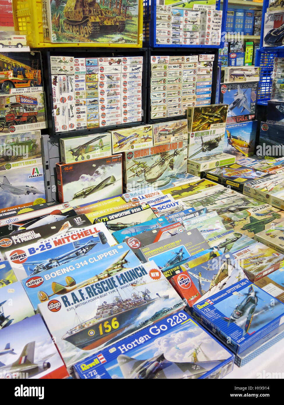 A huge selection of various Airfix plastic model kits for