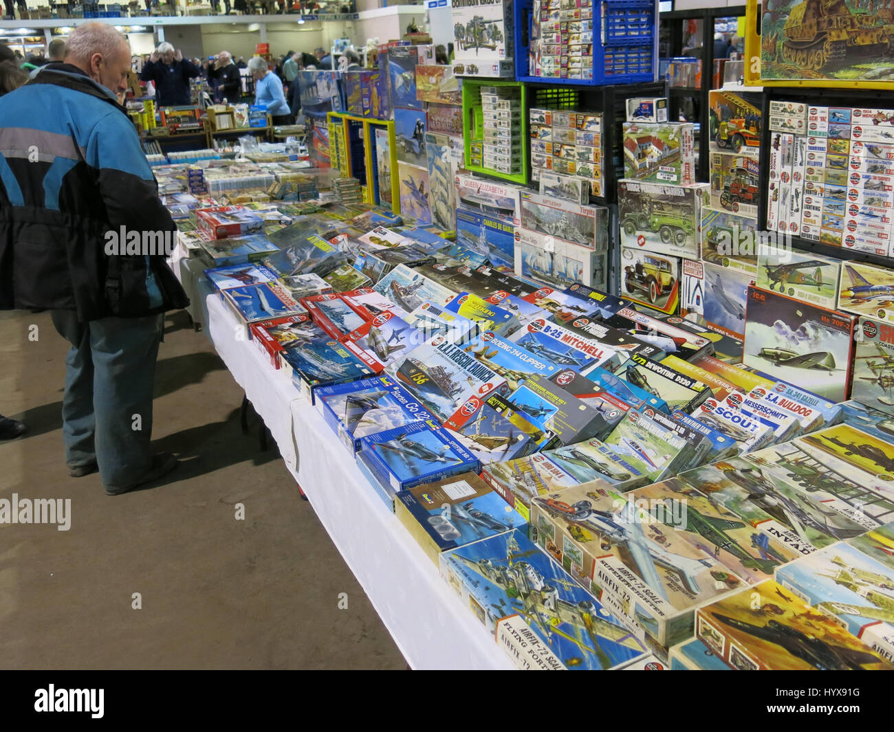Selection Of Plastic Model Kits Stock Photos & Selection Of