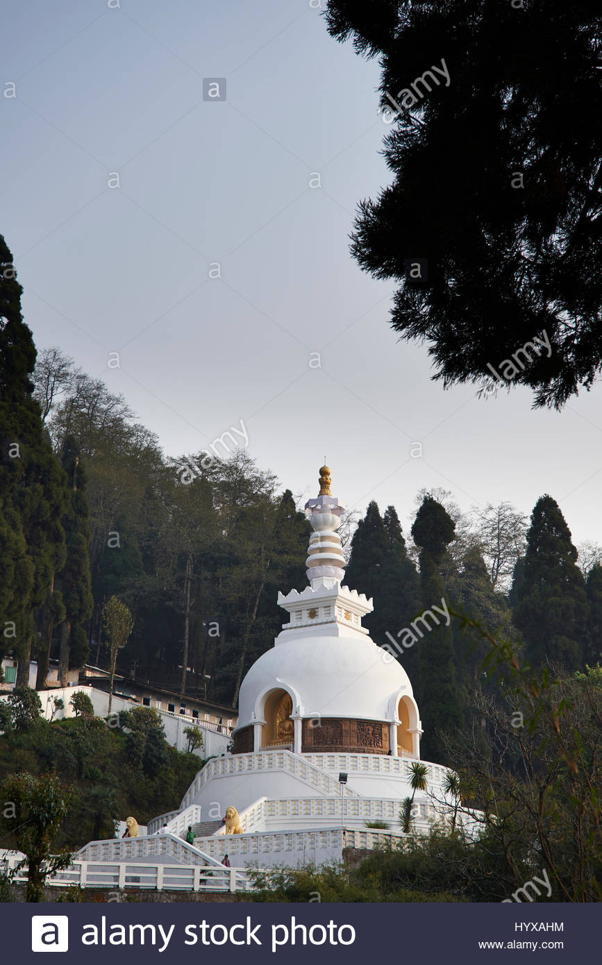 A Japanese Peace Pagoda built under the guidance of Nichidatsu Fujii, a Japanese Buddhist Monk who built peace pagodas - Stock Image