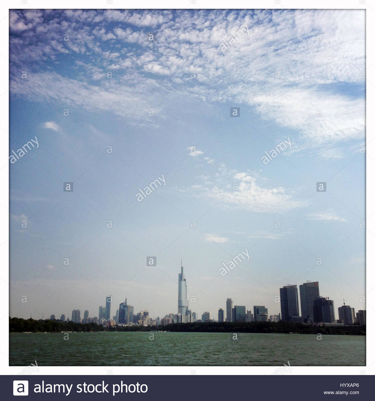 A view of the city of Nanjing, in central China. - Stock Image