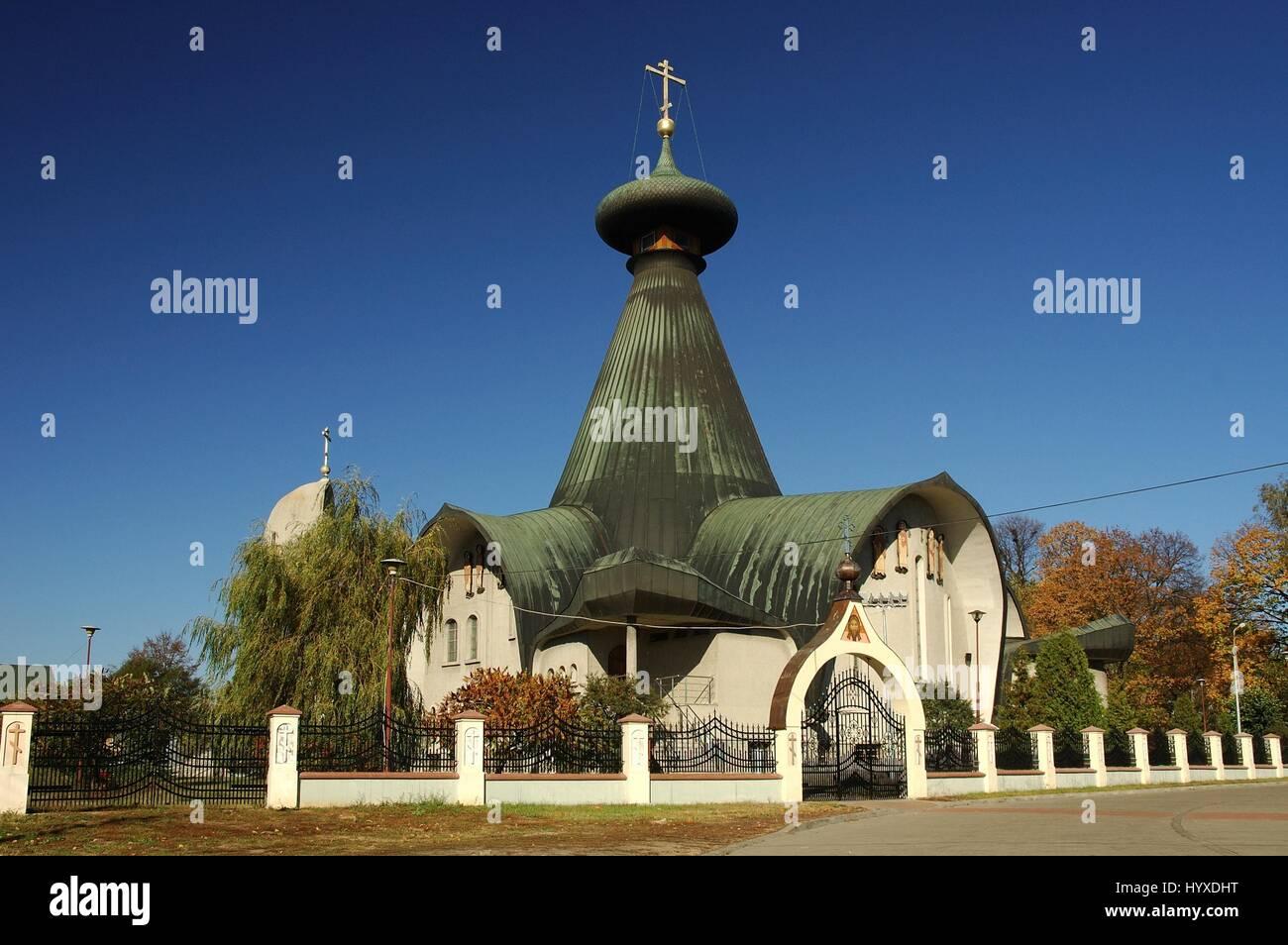 Poland, Hajnowka, The Holy Trinity Orthodox Church - Stock Image
