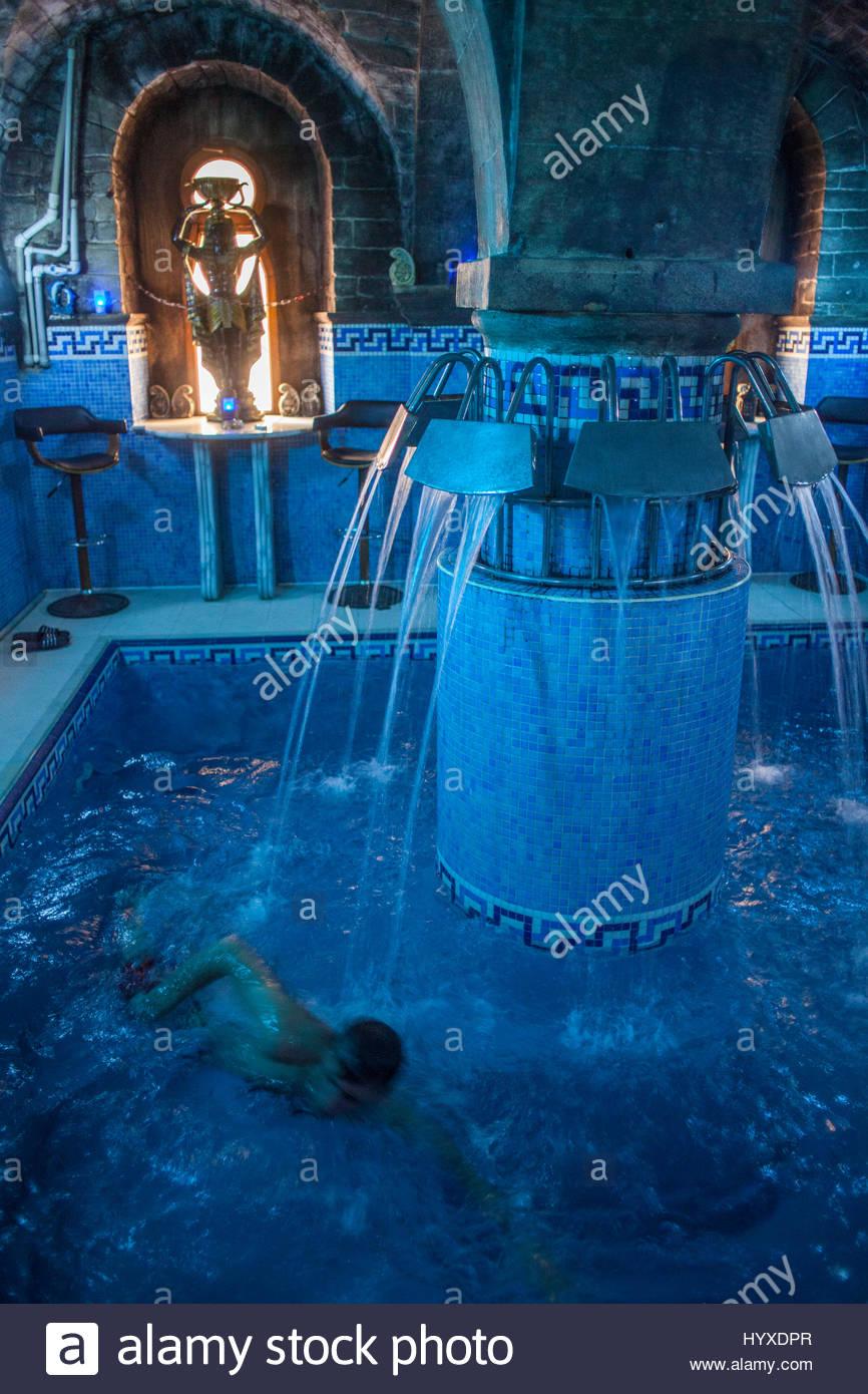 Man In Fountain Swimming Pool Stock Photos & Man In Fountain ...