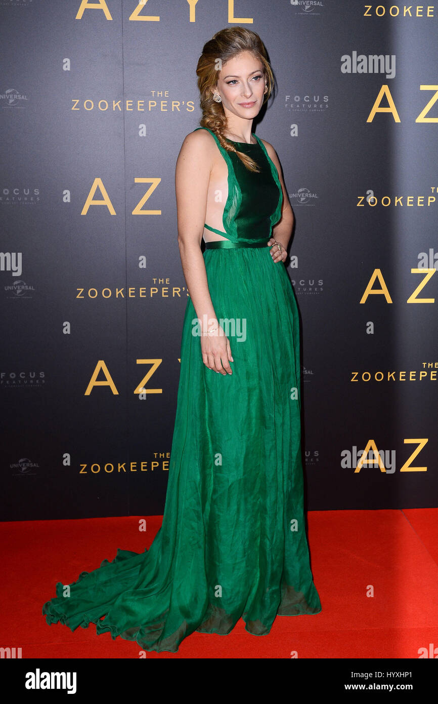 Celebrities attend a special screening of 'The Zookeeper's Wife'  Featuring: Efrat Dor Where: Warsaw, - Stock Image