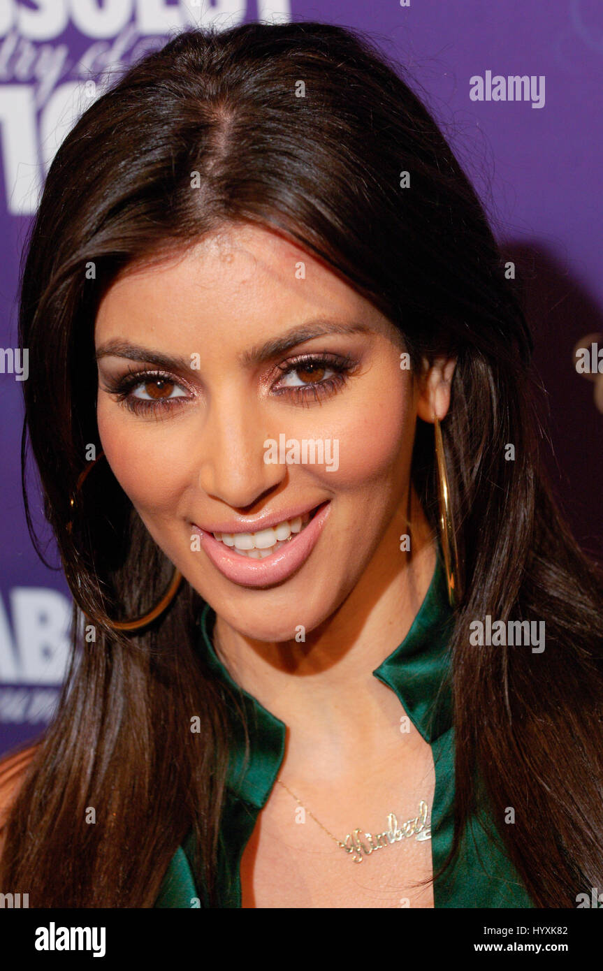 Television personality Kim Kardashian arrives at the #|#Glow in the Dark Tour 2008#|# after party at GOA in Hollywood. - Stock Image